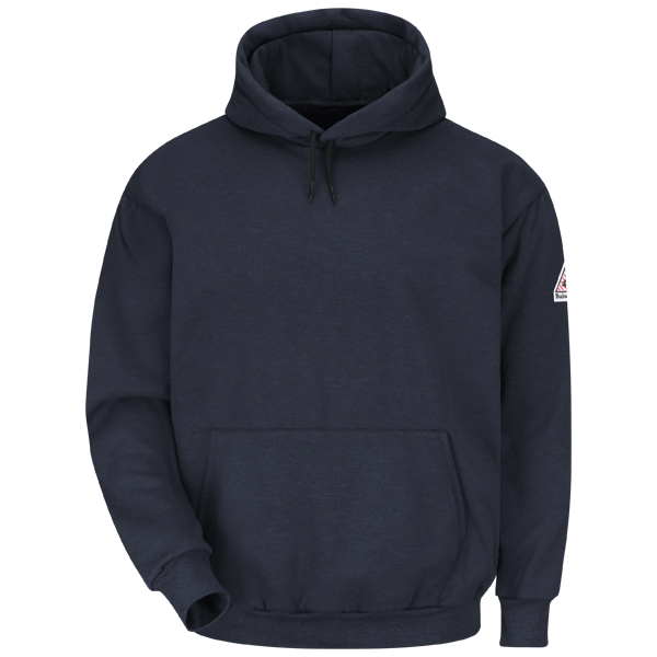 Pullover Hooded Fleece Sweatshirt - Modacrylic Blend