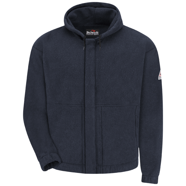 FR Zip-Front Hooded Fleece Sweatshirt | Bulwark®