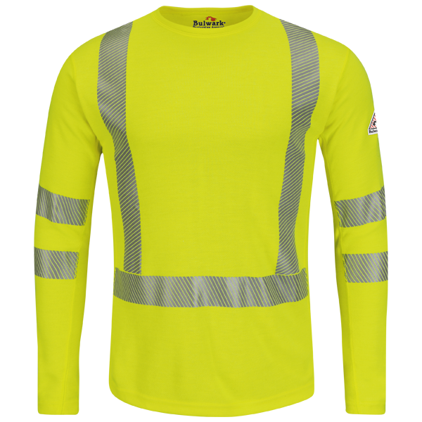 Hi-Visibility Flame-Resistant Long Sleeve T-Shirt - Power Dry® FR