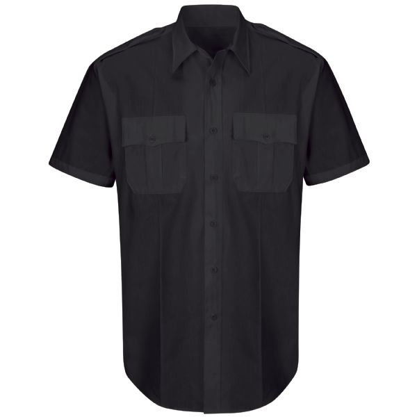 Product Shot - New Dimension® Plus Short Sleeve Poplin Shirt