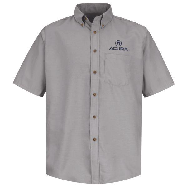 Acura® Men's Short Sleeve Poplin Dress Shirt