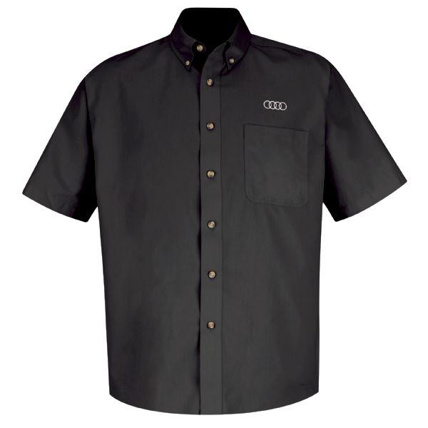 Audi® Men's Short Sleeve Meridian Performance Twill Shirt