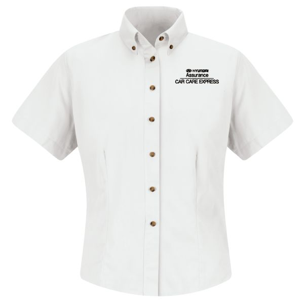 Hyundai® Assurance Car Care Express Women'sShort Sleeve Meridian Performance Twill Shirt