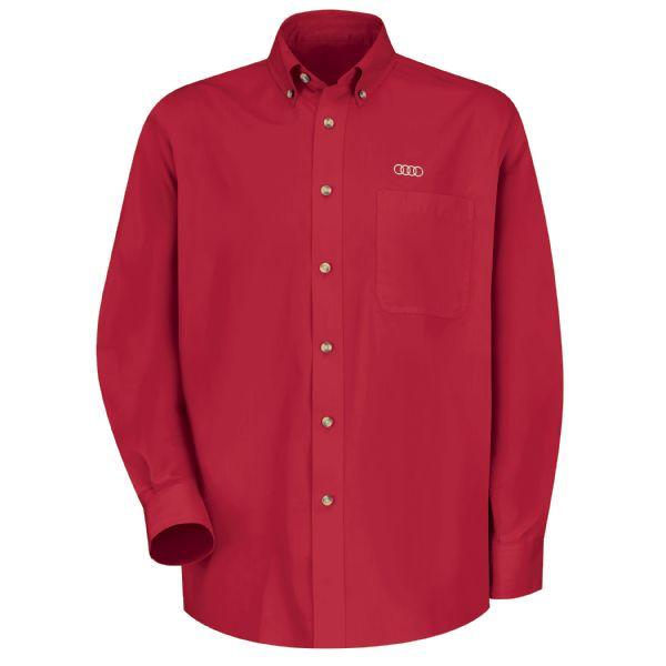 Audi® Men's Long Sleeve Meridian Performance Twill Shirt
