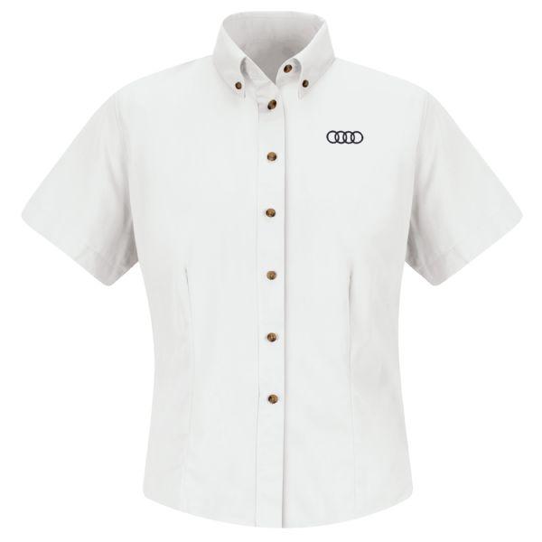 Audi® Women's Short Sleeve Meridian Performance Twill Shirt