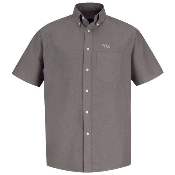 Audi® Men's Short Sleeve Executive Oxford Dress Shirt