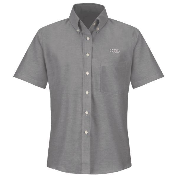Audi® Women's Short Sleeve Executive Oxford Dress Shirt