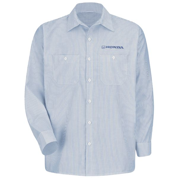 Honda® Men's Long Sleeve Industrial Stripe Work Shirt