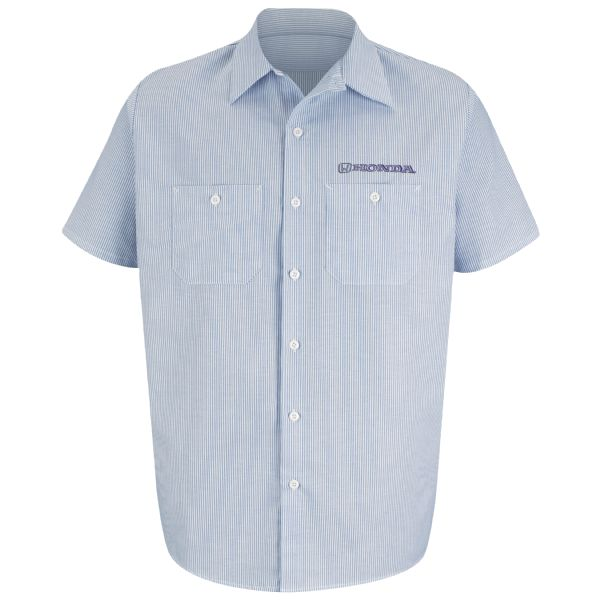 Honda® Men's Short Sleeve Industrial Stripe Work Shirt