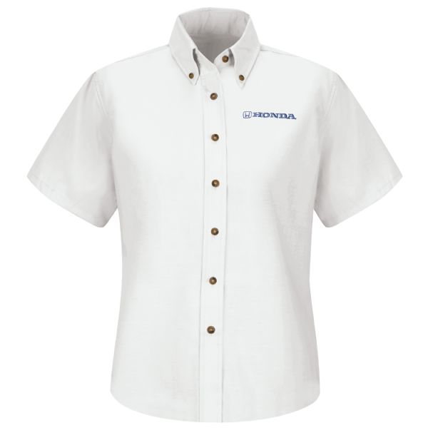 Honda® Women's Short Sleeve Poplin Dress Shirt