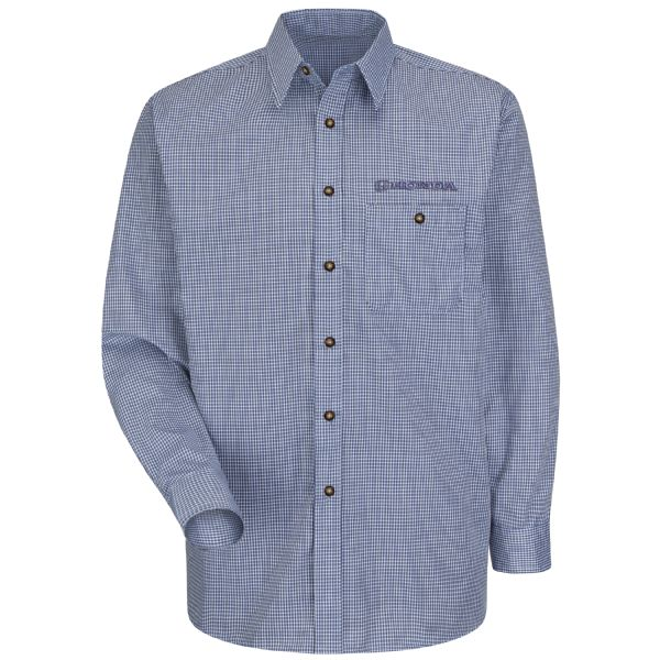 Honda® Men's Long Sleeve Mini-Plaid Uniform Shirt