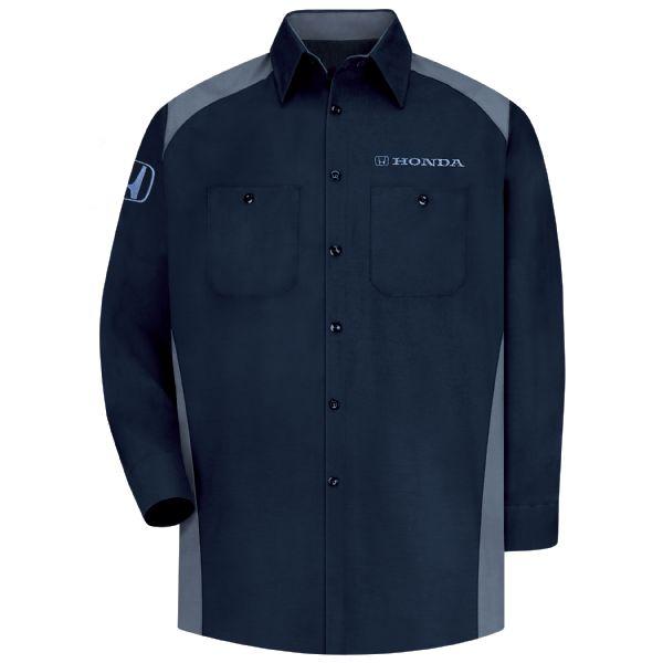 Honda® Men's Long Sleeve Motorsports Shirt