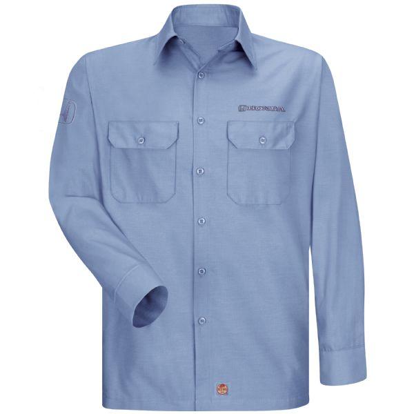 Honda® Men's Long Sleeve Solid Ripstop Shirt