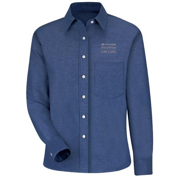 Hyundai® Assurance Car Care Women's Long Sleeve Oxford Dress Shirt