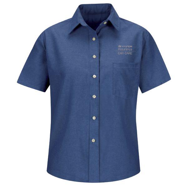 Hyundai® Assurance Car Care Women's Short Sleeve Oxford Dress Shirt