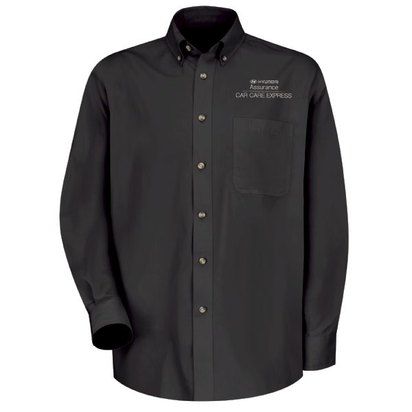 Hyundai® Assurance Car Care Express Men's Long Sleeve Meridian Performance Twill Shirt