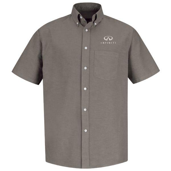 Infiniti® Men'sShort Sleeve Executive Oxford Dress Shirt