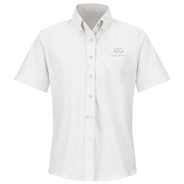 Infiniti® Women'sShort Sleeve Executive Oxford Dress Shirt