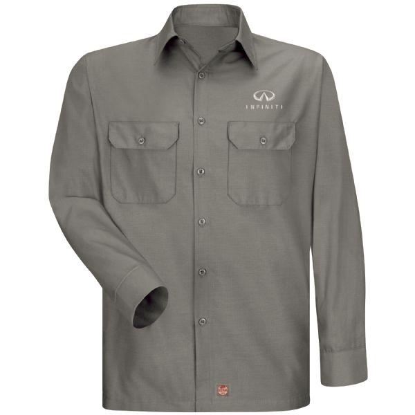 Infiniti® Men's Long Sleeve Solid Ripstop Shirt