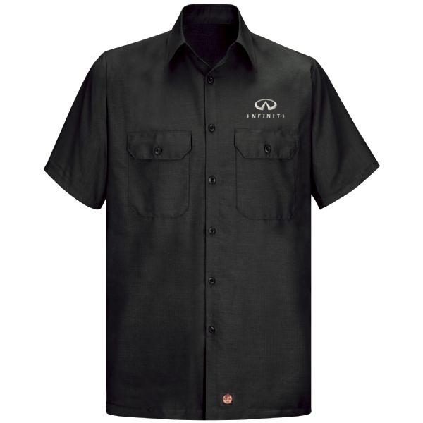 Infiniti® Men'sShort Sleeve Solid Ripstop Shirt