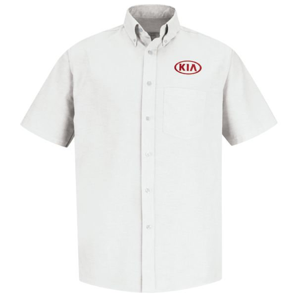 Kia® Men's Short Sleeve Executive Oxford Dress Shirt