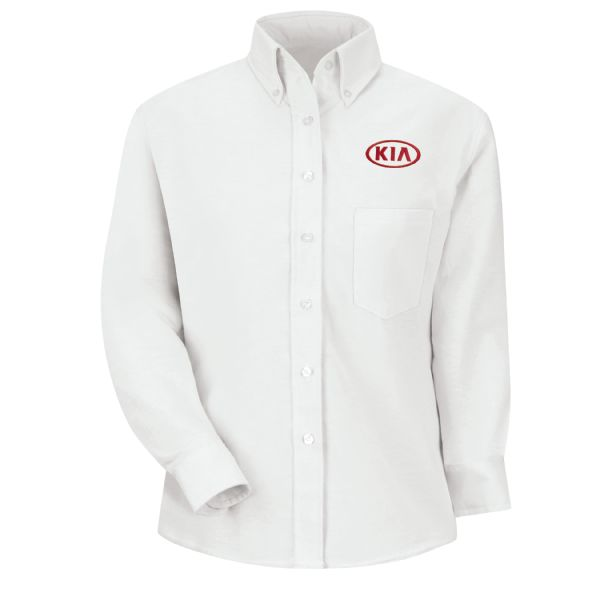 Kia® Women's Long Sleeve Executive Oxford Dress Shirt