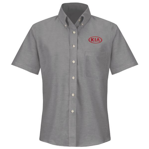 Kia® Women's Short Sleeve Executive Oxford Dress Shirt