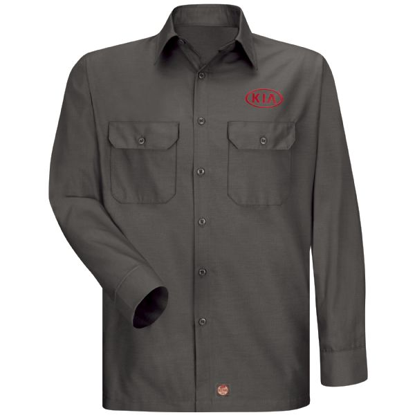 Kia® Men's Long Sleeve Solid Ripstop Shirt