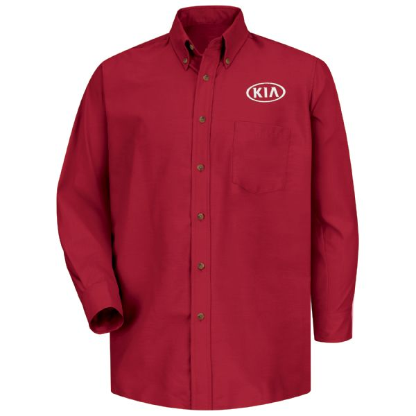 Kia® Men's Long Sleeve Poplin Dress Shirt