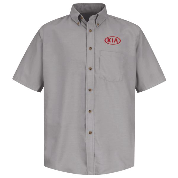 Kia® Men's Short Sleeve Poplin Dress Shirt
