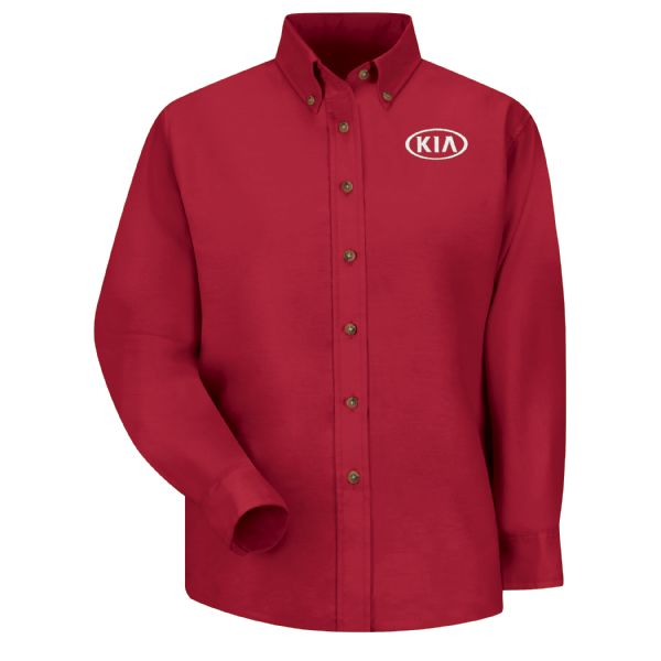 Kia® Women's Long Sleeve Poplin Dress Shirt