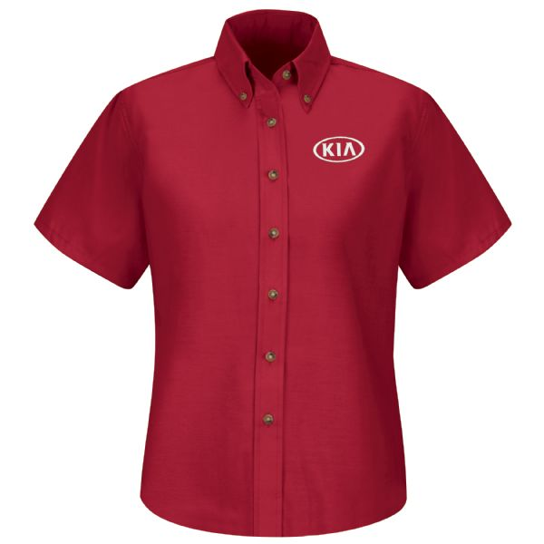 Kia® Women's Short Sleeve Poplin Dress Shirt