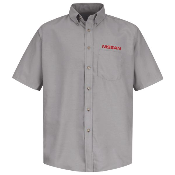 Nissan® Men's Short Sleeve Poplin Dress Shirt