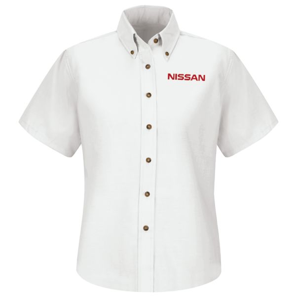 Nissan® Women's Short Sleeve Poplin Dress Shirt