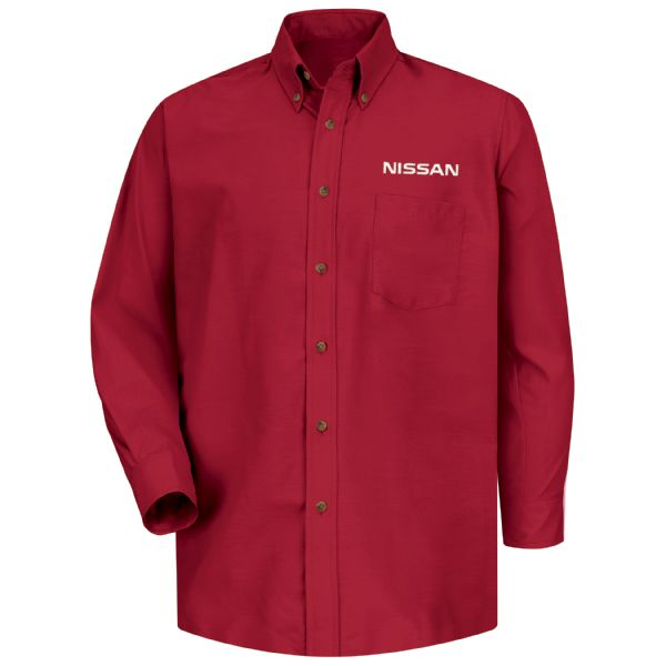 Nissan® Men's Long Sleeve Poplin Dress Shirt