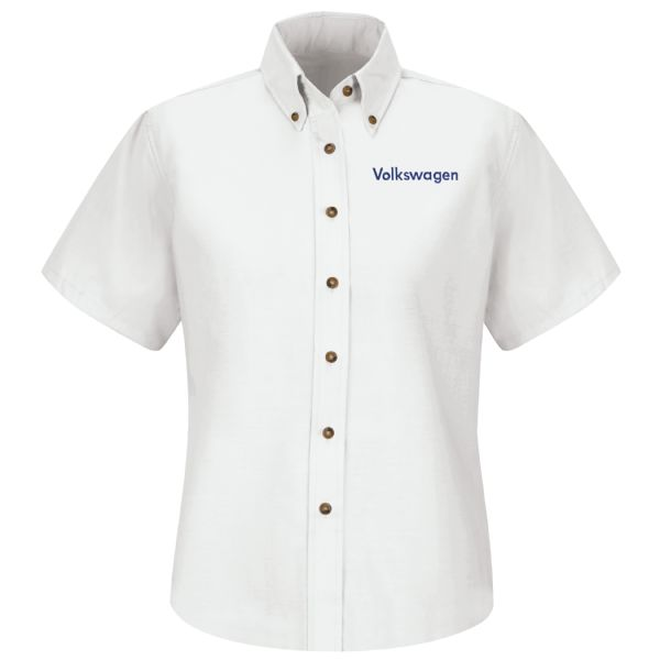 Volkswagen® Women's Short Sleeve Poplin Dress Shirt