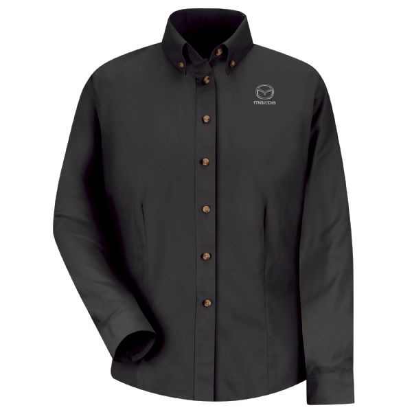 Mazda® Women's Long Sleeve Meridian Performance Twill Shirt