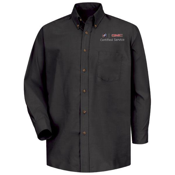 Buick GMC Men's Long Sleeve Poplin Dress Shirt