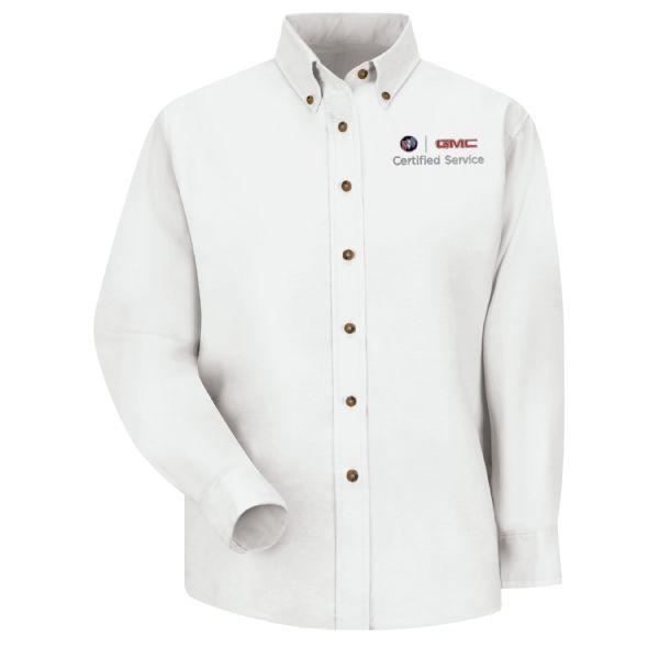 Buick GMC Women's Long Sleeve Poplin Dress Shirt