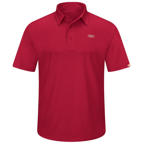 Audi® Men's Short Sleeve Performance Knit® Flex Series Pro Polo