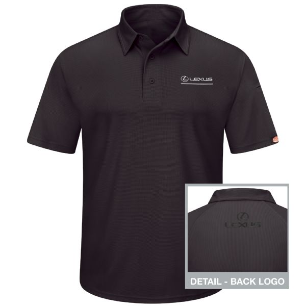 Lexus® Men's Short Sleeve Performance Knit® Flex Series Pro Polo