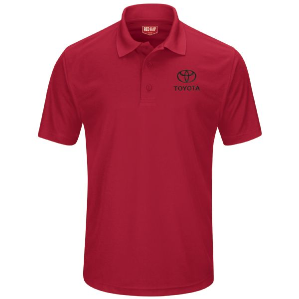 Toyota® Men's Short Sleeve Performance Knit® Pocketless Core Polo