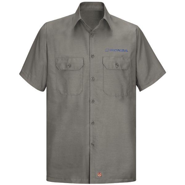 Honda® Men's Short Sleeve Solid Ripstop Shirt