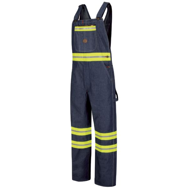 Enhanced Visibility Denim Bib Overall