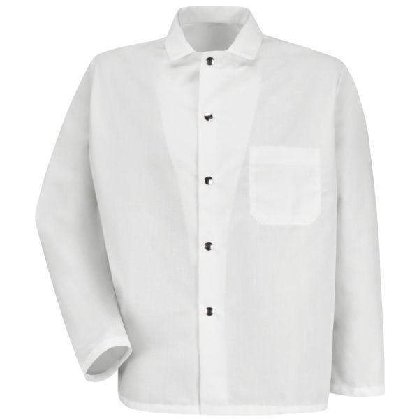 Snap-Front Spun Polyester Short Butcher Coat