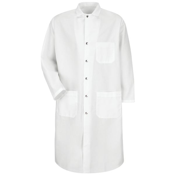 Product Shot - Snap-Front Spun Polyester Butcher Coat