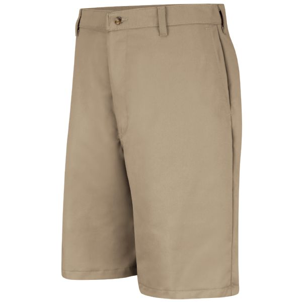 Cotton Casual Plain Front Short