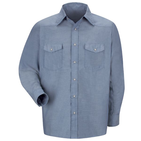 Product Shot - Men's Long Sleeve Deluxe Western Style Shirt