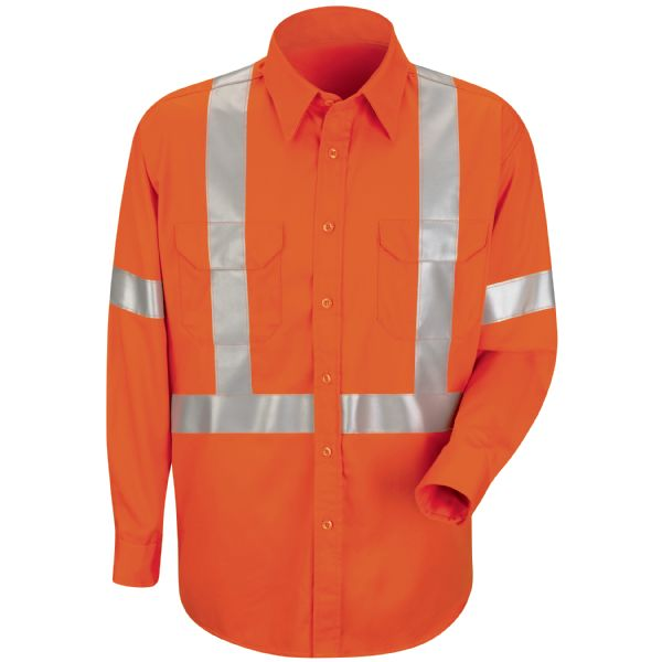Product Shot - Men's Long Sleeve Cotton Dress Shirt with CSA Compliant Reflective Trim