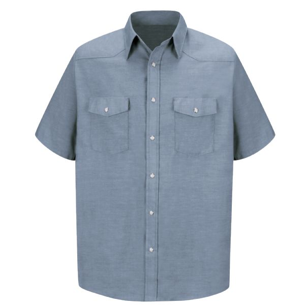 Men's Short Sleeve Deluxe Western Style Shirt